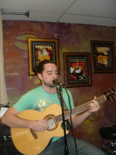Alex Siniari at the Gregorios Market Open Mic