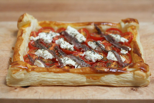 Tarte  feuilletée aux tomates-cerises 2