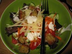 DInner - falafel salad