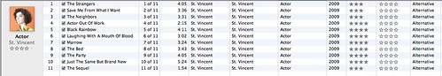 iTunes Review: St. Vincent - Actor