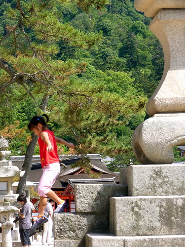 Playing at Miyajima Shrine