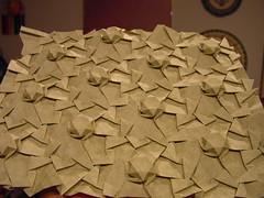 Puff Star Garden: Slanted (Daniel Kwan) Tags: elephant eh garden star 3d triangle origami pattern daniel puff twist hide hexagon tess fold crease tessellation kwan danielkwan