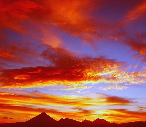 Sunset on Guatemala City.