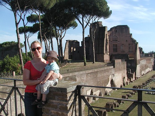 Erica and Julien at Palatine Hill