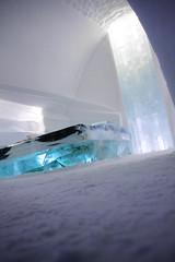 "Icehotel ""Dynamic shelter"" (Obiw) Tags: light snow cold ice sweden sneeuw north pole lapland northern kiruna icehotel arcticcircle ijs zweden jukkasjrvi noorderlicht torne poolcirkel ijshotel lvriver javieropazo josevasqueztoro"