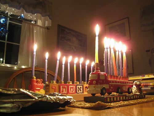 Hanuka candles