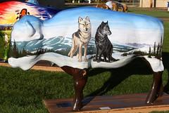 "Part of the ""Where the Painted Buffalo Roam"" exhibit, West Yellowstone, Montana (IMG_1584a) (Alaskan Dude) Tags: travel art buffalo montana wildlife westyellowstone paintedbuffalo wherethepaintedbuffaloroam"