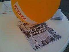 Wahlwerbung der CDU Bochum