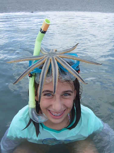 Rachel with a starfish hairdo!
