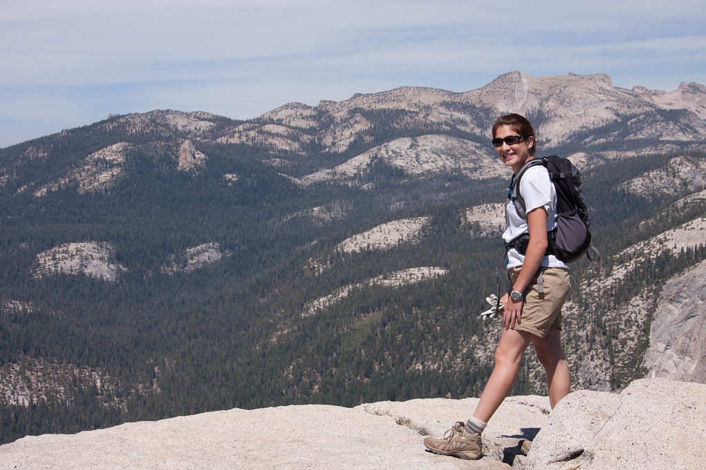 Nadia at the top of Half Dome!