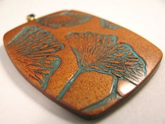 Sue's Mini Verdigris Leaves on Copper