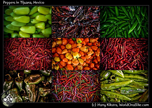 Peppers in Tijuana, Mexico
