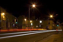 Light Trails to nowhere (Mark Youlden) Tags: uk cars night dark lights town lighttrails anglesey holyhead