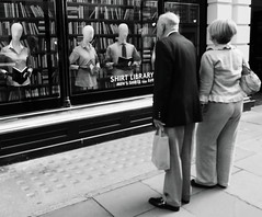 What will they think of next... (Ian Brumpton) Tags: street uk england bw london blancoynegro monochrome mono blackwhite interestingness strada noiretblanc britain pavement candid streetphotography streetlife rangefinder monochromatic explore sidewalk shirts tailor jermynstreet bespoke streetcandid streetfoto englishness explored blackwhitephotos neroamet