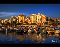 Puerto de Benidorm_HDR (astur56) Tags: sea costa port reflections puerto atardecer mar mediterranean mediterraneo barcos alicante verano comunidad valenciana pais benidorm reflejos deportivo eixidetes toma15 astur56 birringiso100