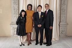 [フリー画像] [ニュース系] [バラク・オバマ/Barack Hussein Obama, Jr.] [アメリカ大統領] [鳩山由紀夫] [内閣総理大臣] [恋人/カップル]     [フリー素材]