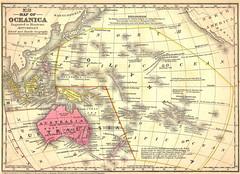 Map of Oceanica, 1884