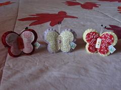 Novas encomendas (VaneMell) Tags: brasil handmade artesanato felt borboleta ms feltro pantanal elstico