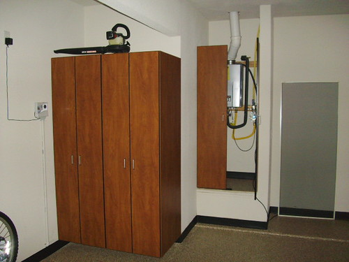 CGW Cabinets and Water Heater Encloser