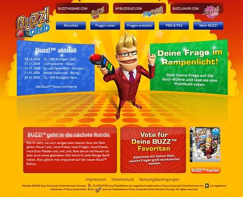 Buzz! Club Homepage