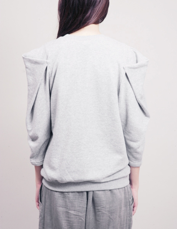 PixieMarket pleat sleeve sweatshirt