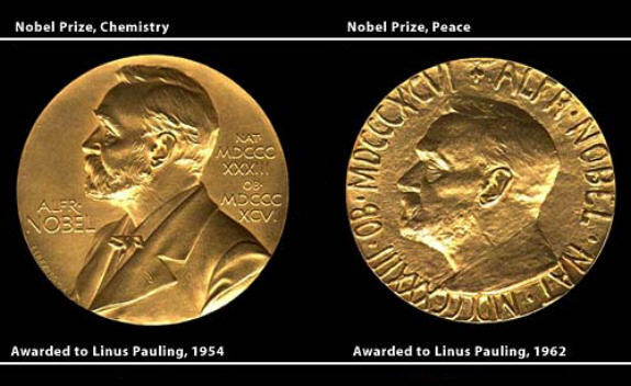 Pauling is one of only four Linus Pauling Nobel Prize