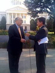 KCRA interviews Joe on Delta legislation (Senator Simitian) Tags: california water delta joesimitian
