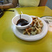 Warm Waffles with Chocolate Fondue