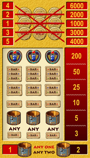 free Treasures of Pharaohs 5 Lines slot game symbols