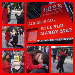 Surprise proposal in Times Square NYC on Valentine's Day (AndrewDallos) Tags: nyc manhattan new york city times square valentines day proposal surprise