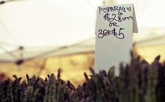 At Play in the Asparagus Fields of the Lord (dogwelder) Tags: california film farmersmarket may asparagus zurbulon6 2009 bundles studiocity 50mmprime olympusom4ti zurbulon