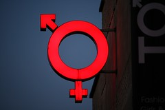 Uni-sex (Alesa Dam) Tags: boy male girl oneaday topv111 female canon logo neon photoaday unisex pictureaday project365 referenced 22365 400d canoneos400d 3waywinner challengewinner