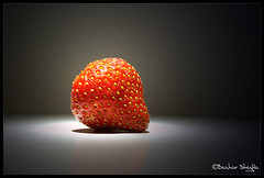 A Strawberry ! (Bashar Shglila) Tags: light red luz studio strawberry libya tripoli  libyen   lbia libi abigfave    libiya liviya libija platinumheartaward     lbija  lby libja lbya liiba livi
