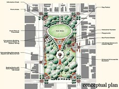 site plan for the updated park (by: City of Cincinnati)