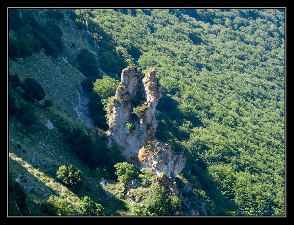 Curiosa formación en la ladera noroeste del Mortxe