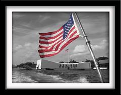 USS Arizona Memorial (twm1340) Tags: arizona hawaii us memorial oahu flag american pearlharbor uss oldglory selectivecolor