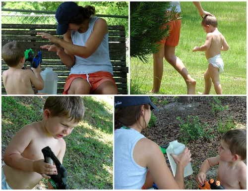 Squirt Guns with Minna and Gavin