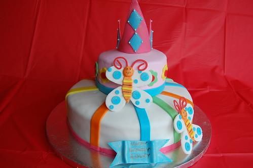 Butterfly princess cake