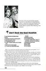 Don't Rock the Boat Rockfish (Shelf Life Taste Test) Tags: ginger maryann gilligan theprofessor gilligansisland bobdenver tinalouise vintagecookbooks retrofood retrocookbook jimbackus loveyhowell natalieschafer russelljohnson dawnwells alanhalejr vintagecookbookrecipes thurstonhowell3rd tvthemedcookbook1960ssitcoms vintagefoodimages vintagecookerybooks madmencookbooks sixtiescookbooks seventiescookbooks fiftiescookbook thirtiescookbooks fortiescookbooks gilligansislandcookbook