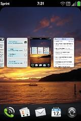meta screenshot of multitasking on the Pre