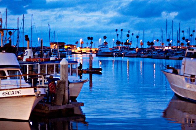 Oceanside Harbor After Sunset