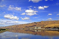 ~~Nothin But Blue Skies From Now On~~ (mikenpo) Tags: blue sky reflection clouds canon skyscape idaho lewiston fromabridge mikenpo