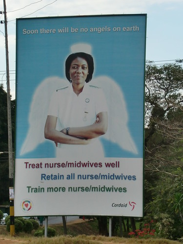"Malawians need their nurses but they are hard to find and keep.  The President has named them ""angels"""