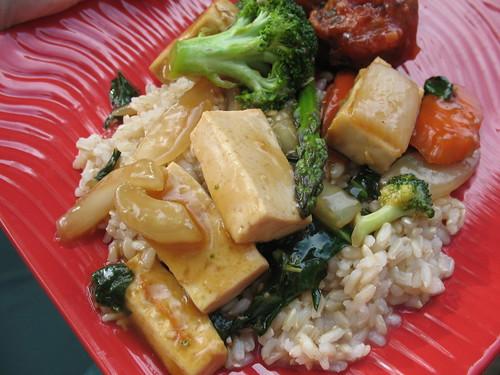 Ginger Tofu Stir Fry