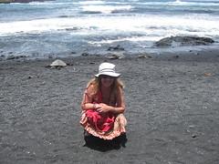 Punalu'u Beach - turtles