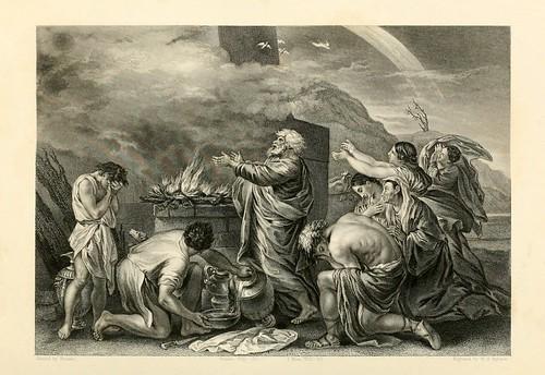 012- El sacrificio de Noe- Poussin