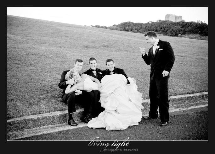 Funny shot! King Edward Park. Newcastle wedding photography.