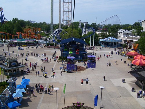 Cedar Point - Skyride and Midway