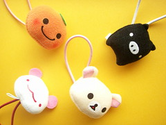 Kawaii San-x Characters Ponytail Holders Hair Accessories Japan (Kawaii Japan) Tags: bear orange cute girl animals japan hair children asian piggy japanese pig panda tie collection commercial kawaii characters ponytail accessories collectible elastic sanx ponytailholders mikanbouya korilakkuma monokuroboo momopanda