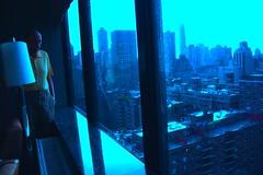 .... (HarryAKA) Tags: city nyc blue ny man rain buildings drop granfather